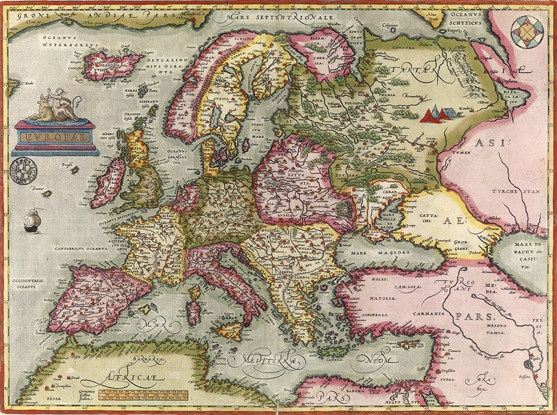 Ortelius's map of Europe, 1603