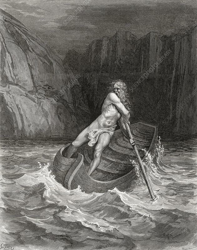Dante's Inferno, Charon on the Styx