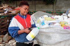 Recycling plastic, South Africa