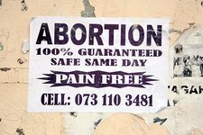 Abortion advert, South Africa