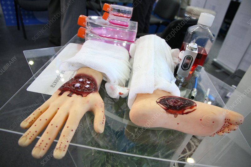 Artificial wounds for training