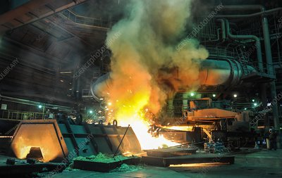 Blast furnace at a steel mill