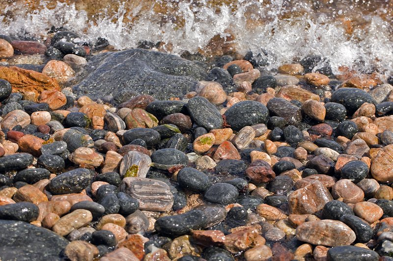 Coastal rocks and pebbles