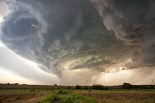 Supercell thunderstorm, Oklahoma, USA