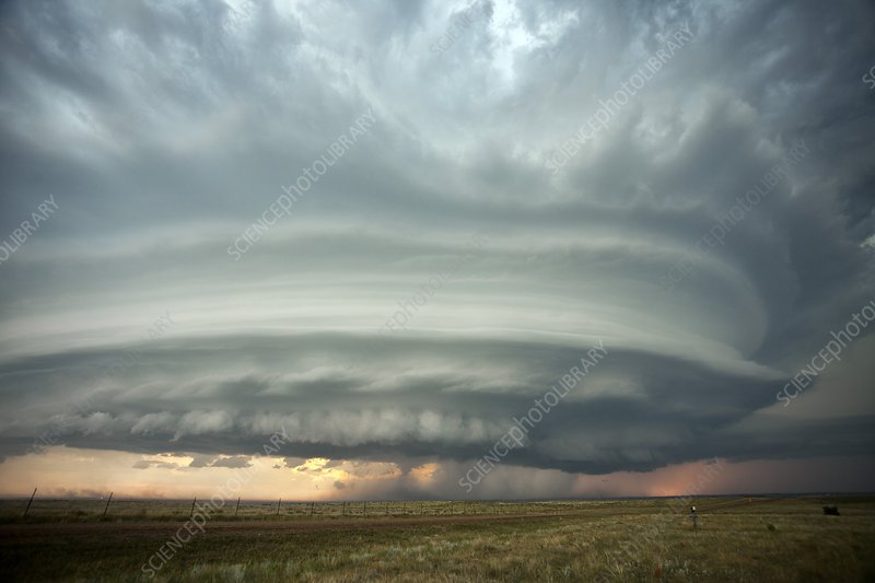 Supercell thunderstorm, S. Dakota, USA