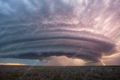 Supercell thunderstorm, Kansas, USA