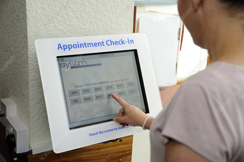 GP surgery self check-in