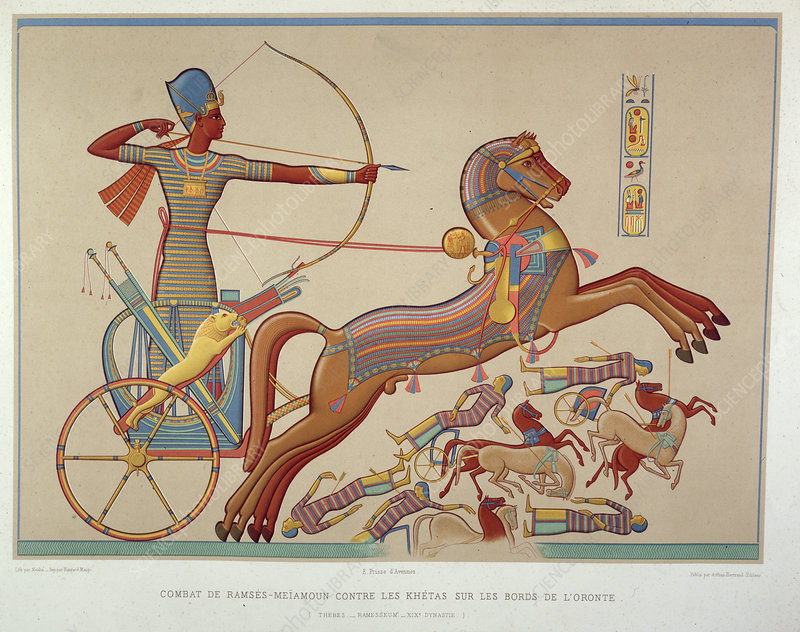 Ramses-Meiamoun in his chariot