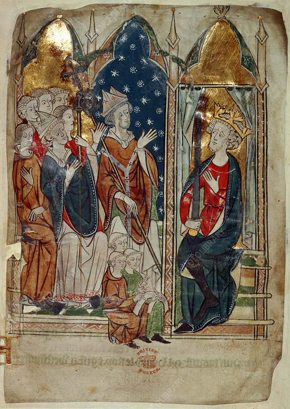 Edward I and his court