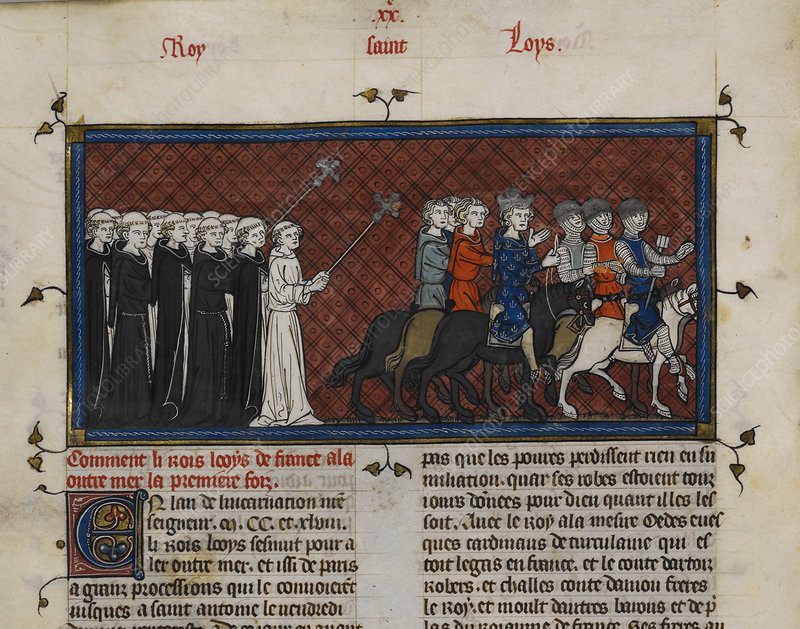 Louis IX goes on a crusade