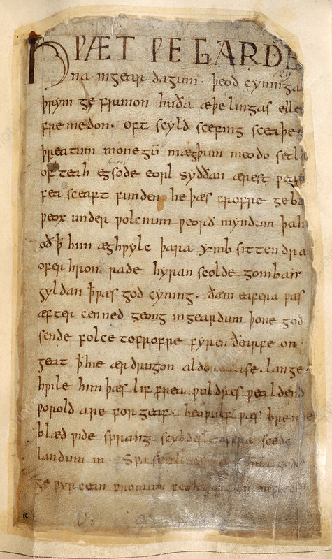 The beginning of Beowulf