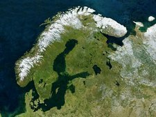 Scandinavia, satellite image