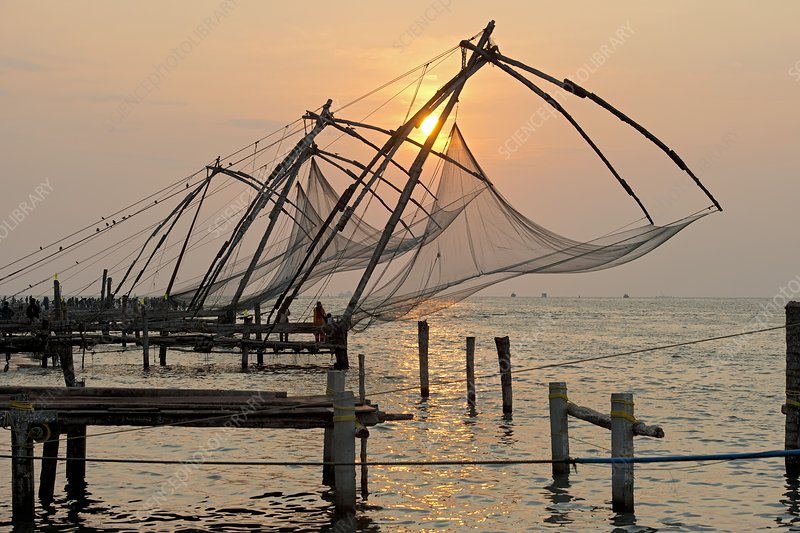 Coastal fishing nets in India