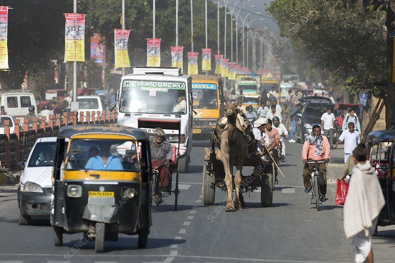 Road traffic in India