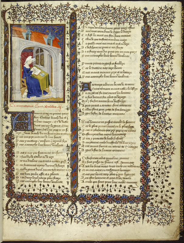 Christine de Pisan writing