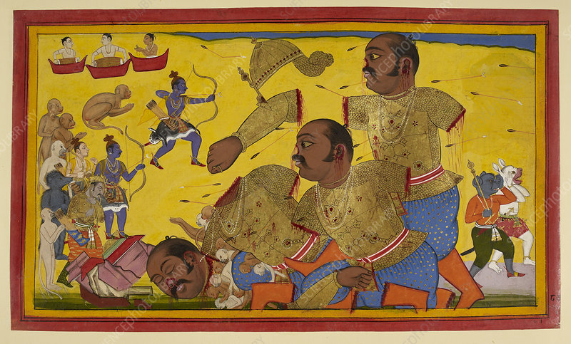 The death of Kumbhakarna