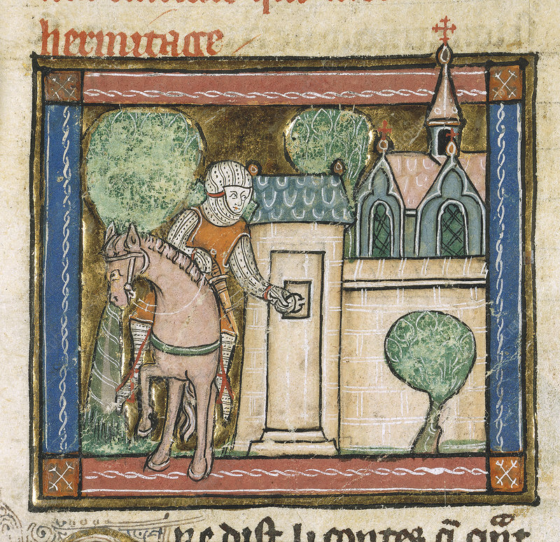 Perceval arrives at a Hermitage