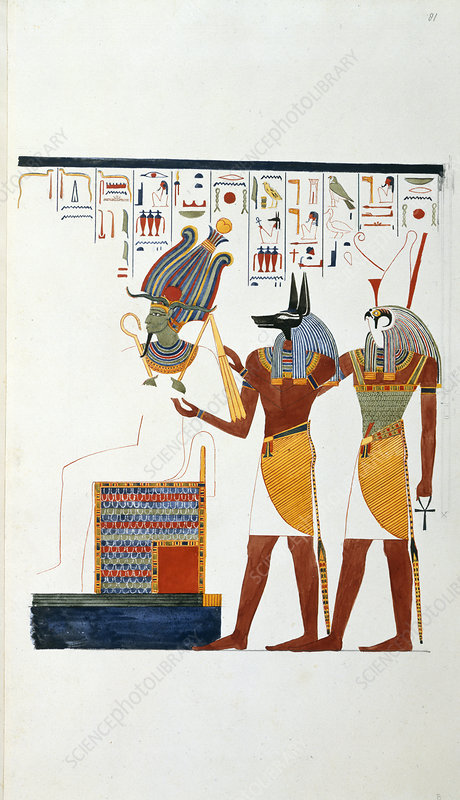Drawing from an Egyptian tomb