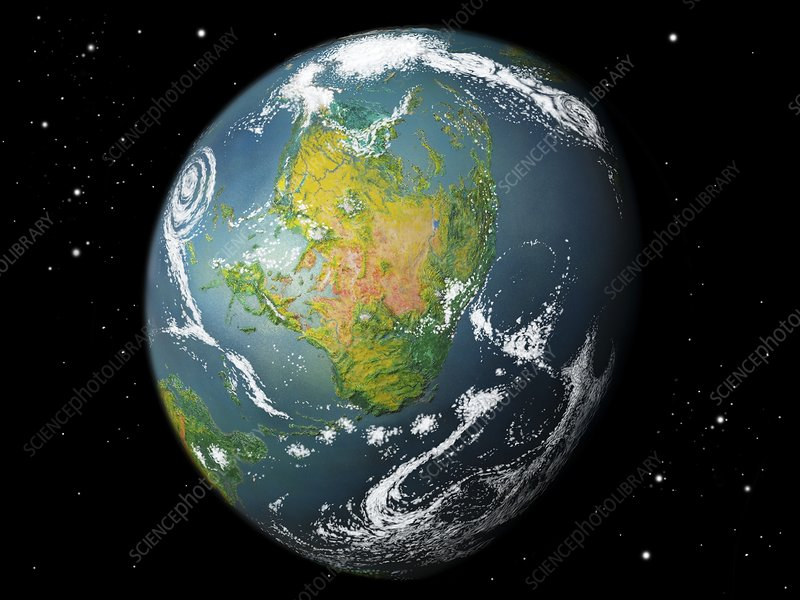 Earth-like exoplanet, artwork - Stock Image C017/9982 ...