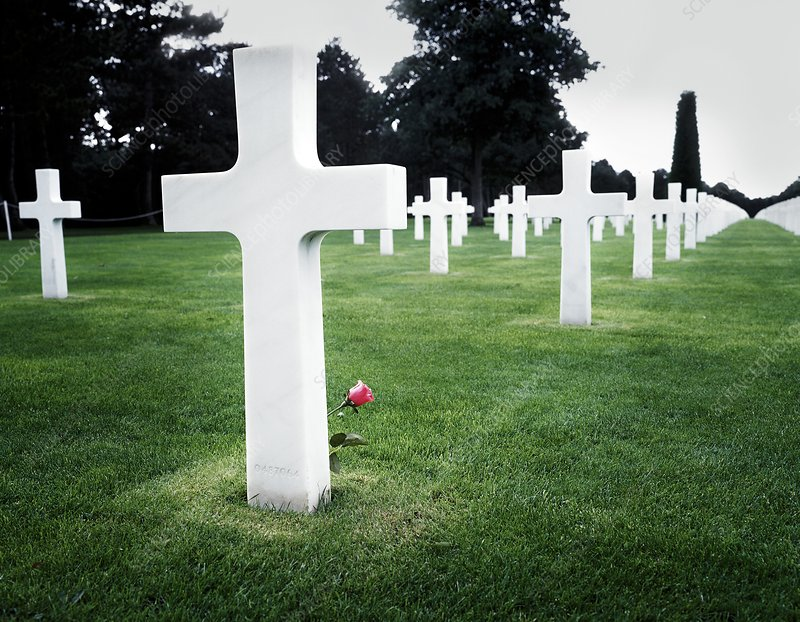 US cemetery, Normandy, France