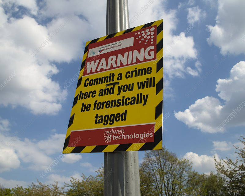 Warning sign: forensic tagging