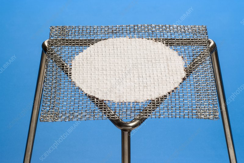 Bunsen Burner Tripod Stand And Gauze Stock Image C018