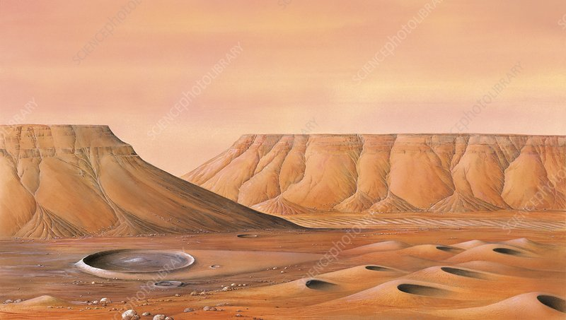 Surface of Mars, artwork