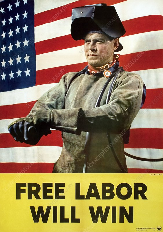 Industry labour poster, World War II