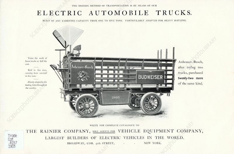 Electric truck advert, 1900s