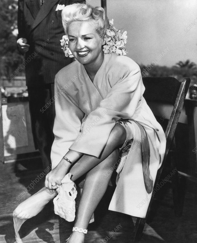 Betty Grable, US actress