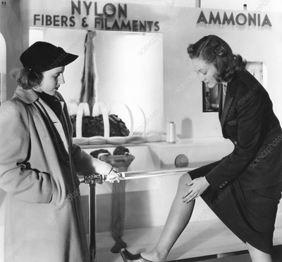 Nylon stockings exhibition, 1939