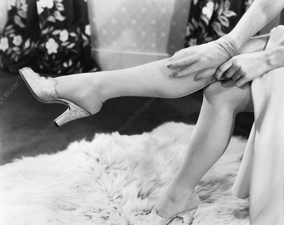 Nylon stockings, 1940