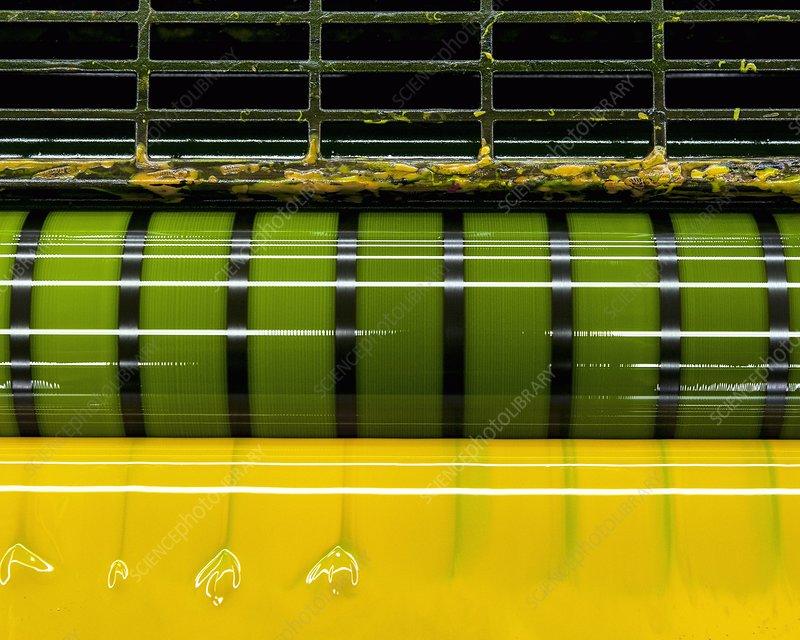 Offset printing machine roller