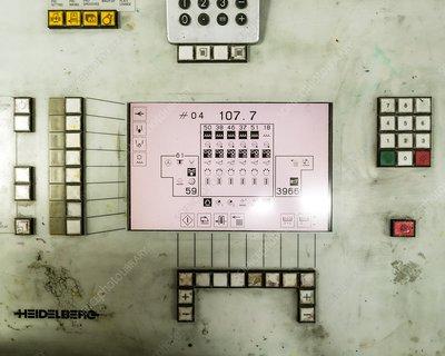 Offset printer control panel