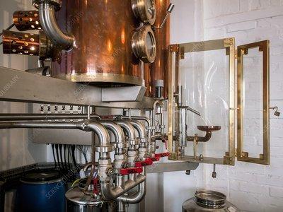 Copper still, gin distillery