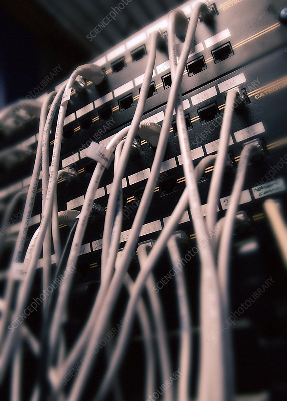 Cables in server room