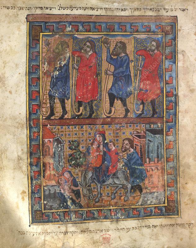 Illustration from a Haggadah