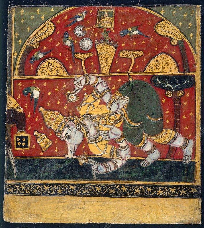 Varaha descends into the ocean