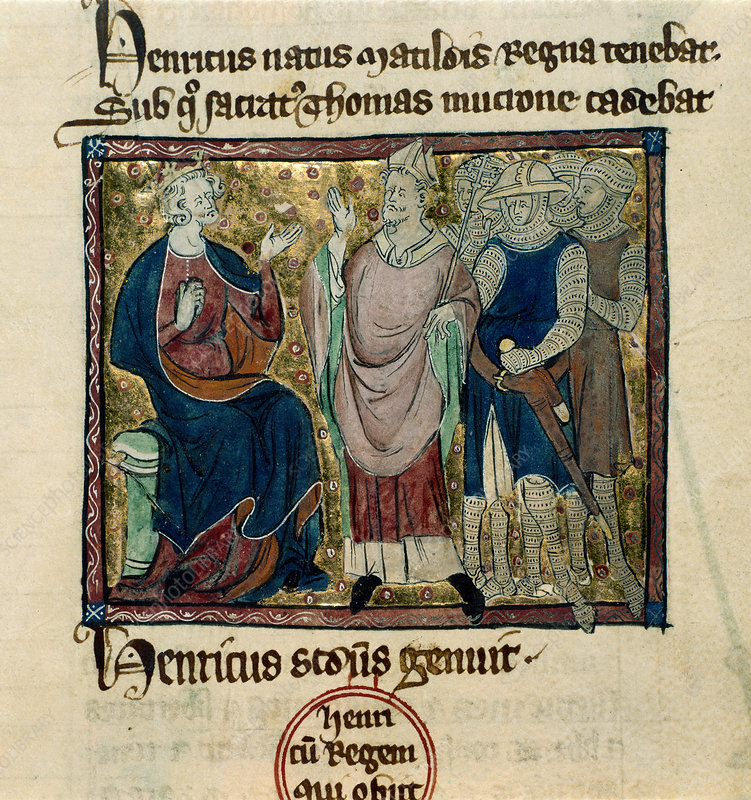 Becket before Henry II