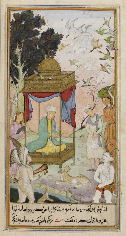 Sulayman with animals