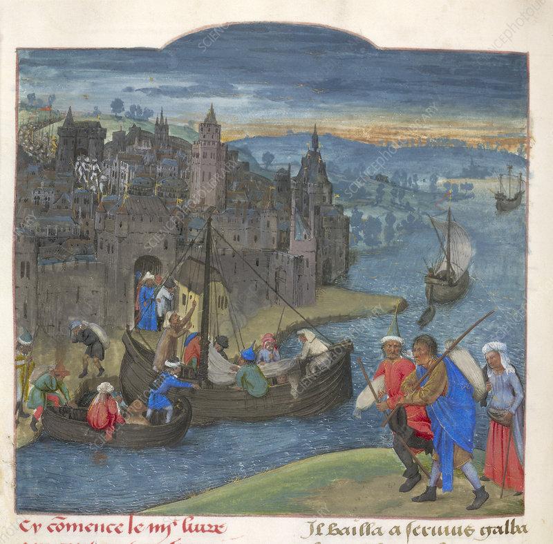 Citizens leaving Martigny