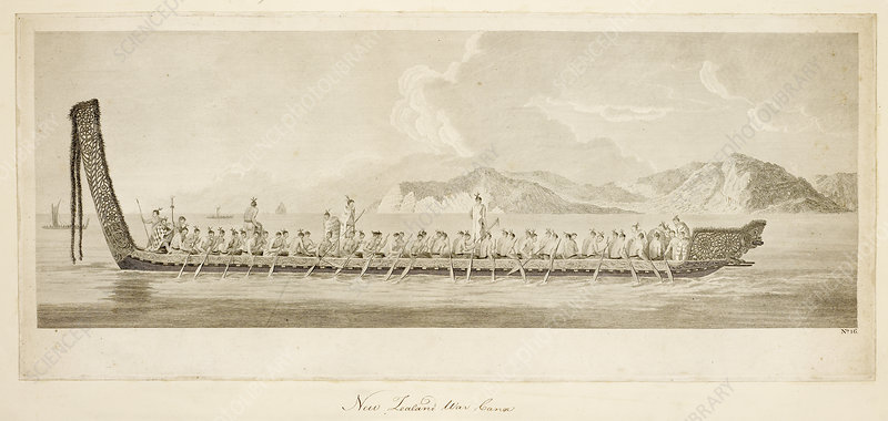 War canoe of New Zealand