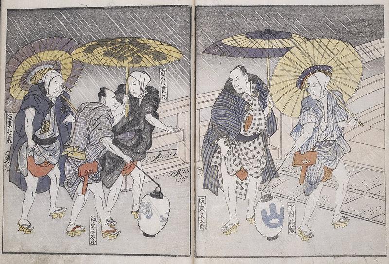 Actors in the rain