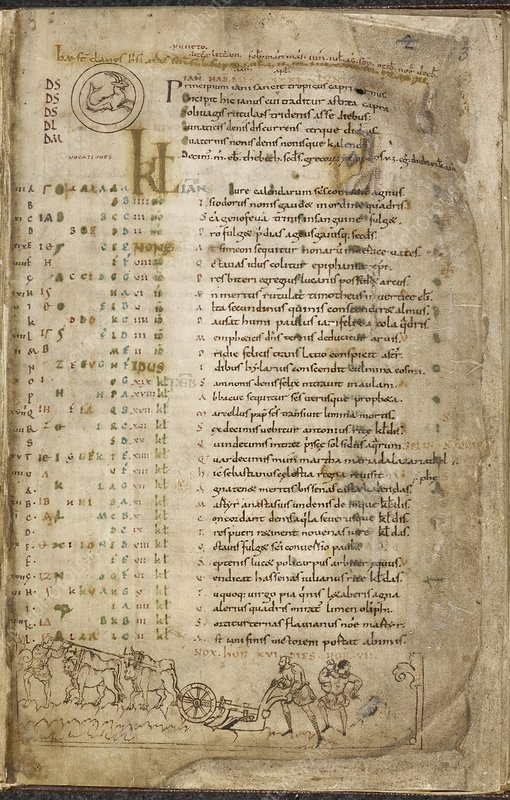 The Julius Calendar and Hymnal