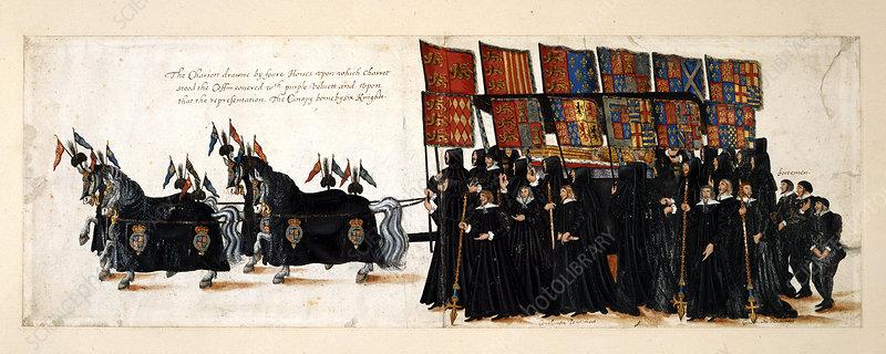 Elizabeth I's Funeral Procession