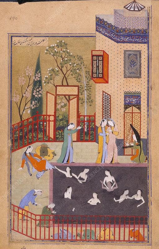 Maidens bathing