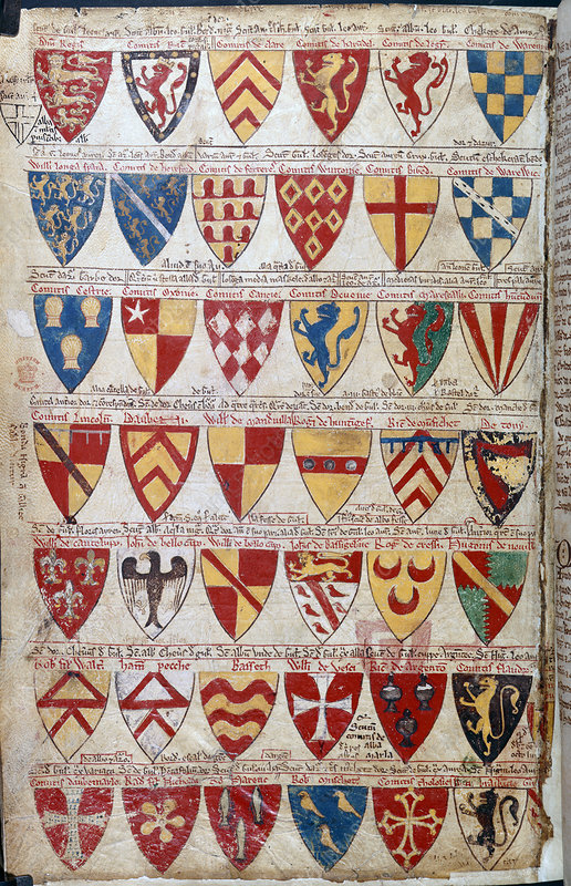Painted shields of arms