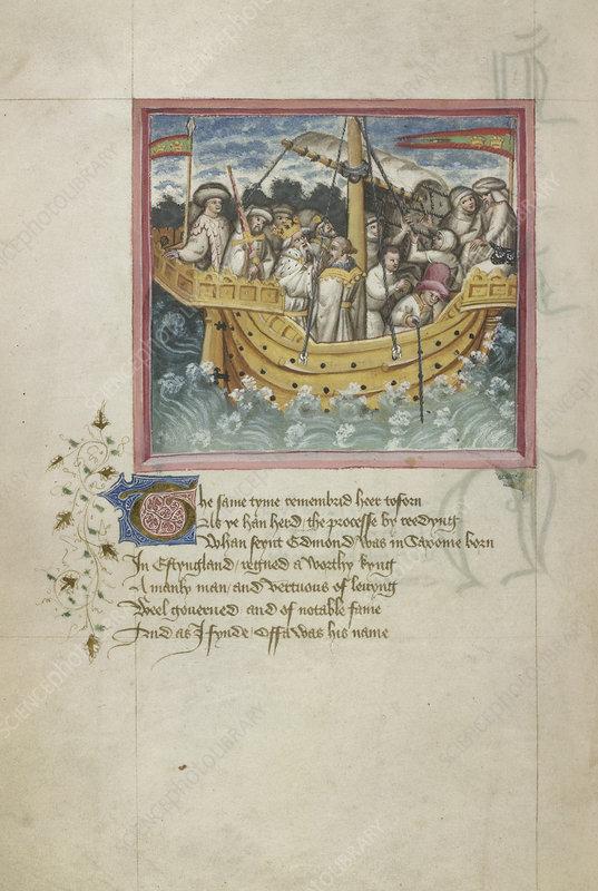 King Offa sails to Saxony