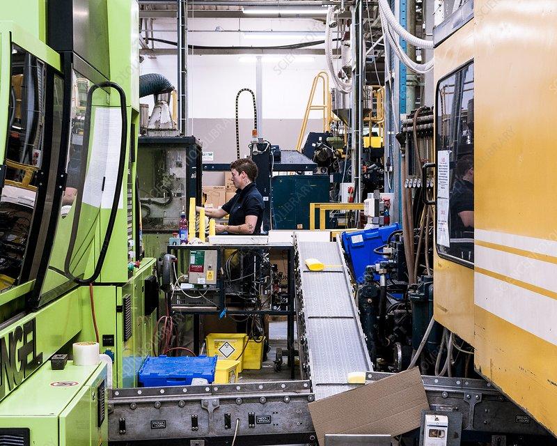 Plastics factory production line