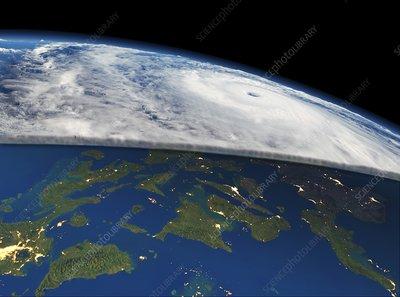 Super typhoon Haiyan, November 2013